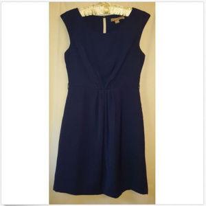 Love 21 Blue Keyhole Back Sleeveless Sheath Dress